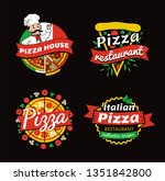pizza places of high quality... | Shutterstock . vector #1351842800