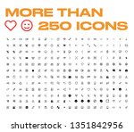 big icon set vector flat