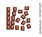 chocolate bar icon vector art... | Shutterstock .eps vector #1351847639