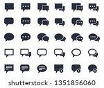 speech bubble set ... | Shutterstock . vector #1351856060