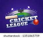 cricket league concept with... | Shutterstock .eps vector #1351865759