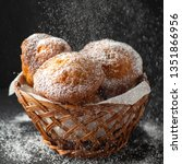 small cakes in sugar powder | Shutterstock . vector #1351866956