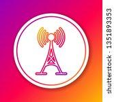 color antenna line icon... | Shutterstock .eps vector #1351893353