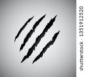 claws scratches   vector... | Shutterstock .eps vector #1351912520