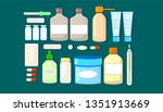 medicine set of drugs. pharmacy ... | Shutterstock .eps vector #1351913669