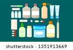 medicine set of drugs. pharmacy ... | Shutterstock .eps vector #1351913669