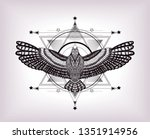 six ponted star with dove. to... | Shutterstock .eps vector #1351914956