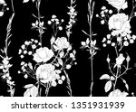roses and spring flowers... | Shutterstock .eps vector #1351931939