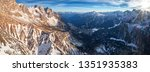 aerial  panoramic view on... | Shutterstock . vector #1351935383