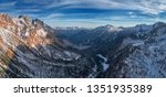 aerial  panoramic view on... | Shutterstock . vector #1351935389