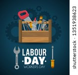 construction tools to labour... | Shutterstock .eps vector #1351938623
