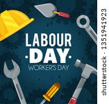 labour day celebration to... | Shutterstock .eps vector #1351941923