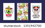 set cards decoration to... | Shutterstock .eps vector #1351942700