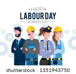 professional people to labour... | Shutterstock .eps vector #1351943750