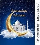ramadan kareem background ... | Shutterstock .eps vector #1351943780