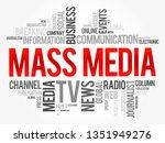 mass media word cloud collage ... | Shutterstock .eps vector #1351949276
