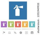 fire extinguisher flat white... | Shutterstock .eps vector #1351949933