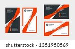 double sided creative business... | Shutterstock .eps vector #1351950569