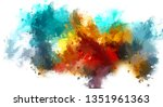 brushed painted abstract... | Shutterstock . vector #1351961363