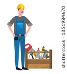 construction architectural... | Shutterstock .eps vector #1351984670
