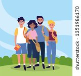 university people with casual...   Shutterstock .eps vector #1351986170