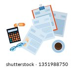 personal finance cartoon | Shutterstock .eps vector #1351988750
