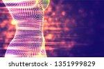 a three dimensional female body ... | Shutterstock .eps vector #1351999829