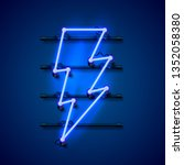 neon sign of lightning... | Shutterstock .eps vector #1352058380