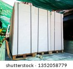 white rectangular bricks ... | Shutterstock . vector #1352058779
