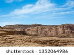 high rocky mountains in the... | Shutterstock . vector #1352064986