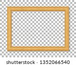 realistic wooden picture frame... | Shutterstock .eps vector #1352066540
