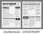 vintage daily newspaper... | Shutterstock .eps vector #1352070359