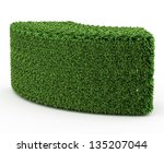 geometry shape bushes isolated... | Shutterstock . vector #135207044