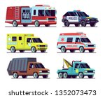 urban vehicles. city police car ... | Shutterstock .eps vector #1352073473