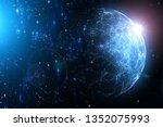 dark blue colored abstract... | Shutterstock . vector #1352075993
