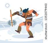 roman gladiators fighting. a... | Shutterstock .eps vector #1352079443