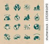 different variants of... | Shutterstock .eps vector #1352081693