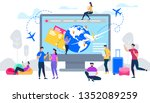online services for travelers...   Shutterstock .eps vector #1352089259