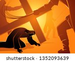 biblical vector illustration... | Shutterstock .eps vector #1352093639