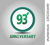 93 years anniversary with go... | Shutterstock .eps vector #1352101640