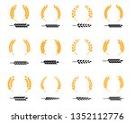 set of silhouette circular... | Shutterstock .eps vector #1352112776