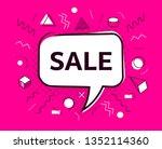 vector sale speech bubble... | Shutterstock .eps vector #1352114360