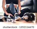 home workout  weight training...   Shutterstock . vector #1352116670