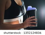 protein shake after workout and ...   Shutterstock . vector #1352124836