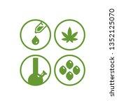 cannabis or hemp icon...