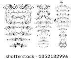 vintage decorative floral arch  ... | Shutterstock .eps vector #1352132996