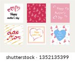 happy mothers day trendy... | Shutterstock .eps vector #1352135399