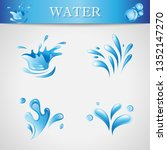 water splash and drop icons  ... | Shutterstock .eps vector #1352147270