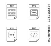 files format linear icons set.... | Shutterstock .eps vector #1352166689