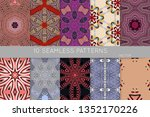 collection of seamless patterns.... | Shutterstock .eps vector #1352170226
